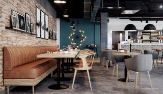 A-contemporary-restaurant-design-with-banquette-seating