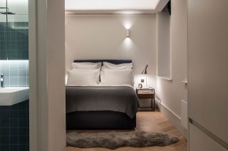 A contemporary & neutral bedroom